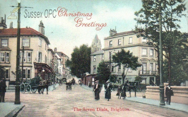 Brighton - The Seven Dials (Christmas Greetings)